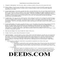 Miner County Guidelines for Mineral Deed Page 1