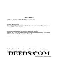 Uinta County Mineral Deed with Quit Claim Page 1