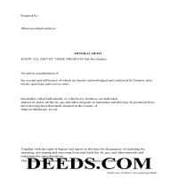 Okmulgee County Mineral Deed Form Page 1