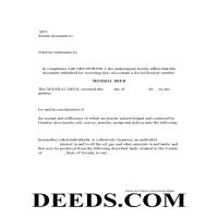 Carson City Mineral Deed Form Page 1