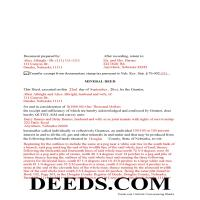 Harlan County Completed Example of the Mineral Deed Page 1
