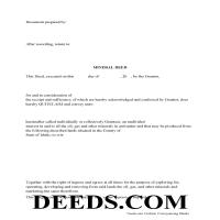 Benewah County Mineral Deed with Quit Claim Page 1