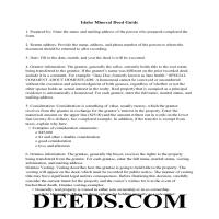 Twin Falls County Guidelines for Mineral Deed Page 1