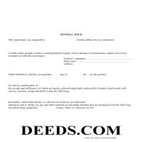 Washington County Mineral Deed Form Page 1