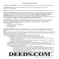 Dent County Guidelines for Mineral Deed Page 1
