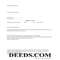 Lawrence County Mineral Deed with Quit Claim Page 1