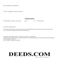 Union County Mineral Deed Form Page 1