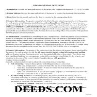 Morgan County Guidelines for Mineral Deed Page 1