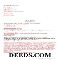 Morgan County Completed Example of the Mineral Deed Page 1