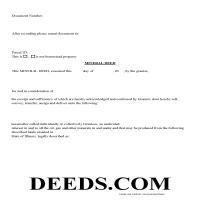 Green County Mineral Deed Form Page 1