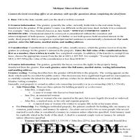 Kalkaska County Guidelines for Mineral Deed Page 1