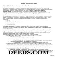 Vanderburgh County Guidelines for Mineral Deed Page 1