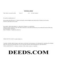 Clinton County Mineral Deed with Quit Claim Page 1