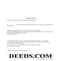 Miami County Mineral Deed with Quit Claim Page 1
