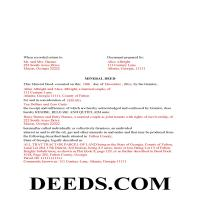 Jeff Davis County Completed Example of the Mineral Deed Page 1