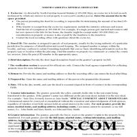 Perquimans County Guidelines for Mineral Deed Page 1