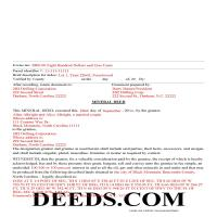 Perquimans County Completed Example of the Mineral Deed Page 1