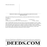 Pima County Deed of Partial Release and Partial Reconveyance Page 1