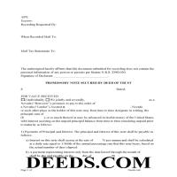 Storey County Promissory Note Secured by Deed of Trust Page 1