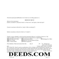 Chester County Deed of Trust Form Page 1