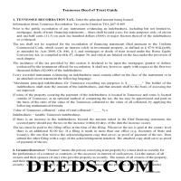 Cocke County Deed of Trust Guidelines Page 1