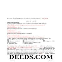 Chester County Completed Example of the Deed of Trust Page 1