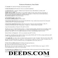 Chester County Promissory Note Guidelines Page 1
