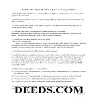 Anson County Guidelines for Limited Power of Attorney for Real Property Page 1