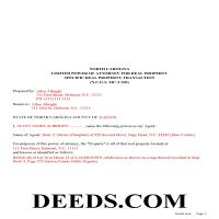Davidson County Completed Example of a Limited Power of Attorney for Real Property Page 1