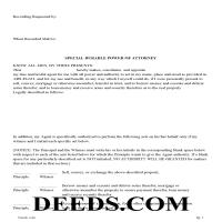 Maricopa County Special Durable Power of Attorney Form Page 1