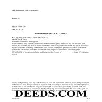 Conecuh County Limited Power of Attorney for Purchase Page 1