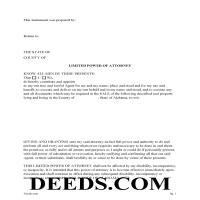 Fayette County Limited Power of Attorney for Sale of Property Form Page 1