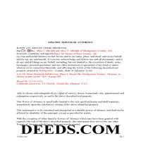 Lee County Completed Example of the Specific POA Page 1