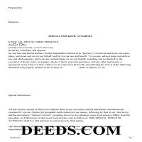 Woodford County Special Power of Attorney Form for the Sale of Property Page 1