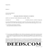 Jeff Davis County Specific Power of Attorney for the Purchase of Property Page 1
