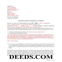 Jeff Davis County Completed Example of the Specific Power of Attorney Page 1