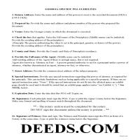 Jeff Davis County Specific Power of Attorney Guidelines Page 1