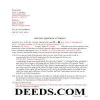 Jeff Davis County Completed Example of the Special Power of Attorney Page 1