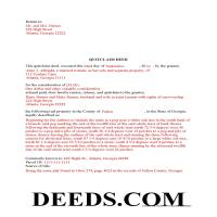 Jeff Davis County Completed Example of the Quit Claim Deed Document Page 1
