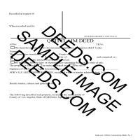 Los Angeles County Quit Claim Deed Form Page 1