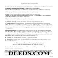 Union County Specific Power of Attorney Guidelines Page 1
