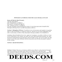 Orleans County Power of Attorney Form Page 1
