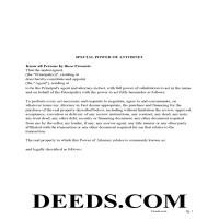 Pleasants County Power of Attorney Form Page 1