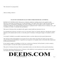 Dolores County Power of Attorney Form Page 1