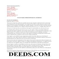 Jeff Davis County Completed Example of the Power of Attorney Page 1