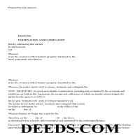Lee County Release of Easement, Right of Way Form Page 1