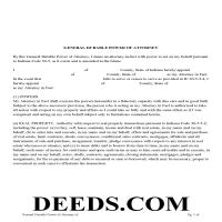Hendricks County Specific Power of Attorney Form Page 1