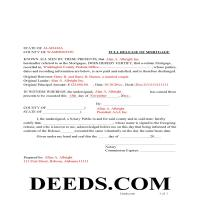Pickens County Completed Example - Release of Mortgage Page 1