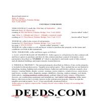 Chemung County Completed Example of the Contract for Deed Page 1