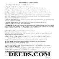 Dunklin County Promissory Note Guidelines Page 1